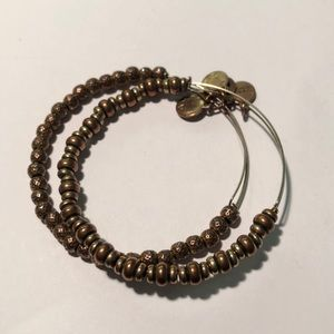 Alex and Ani Set of Two Gold Bead Bangles